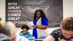 Photo of Tameka Wilson teaching