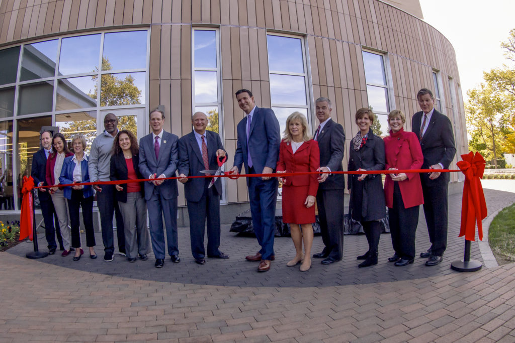Ribbon cutting ceremony for the new Health Professions building