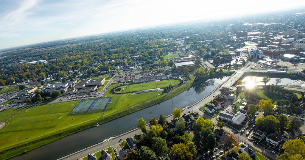 aerial photo of Muncie
