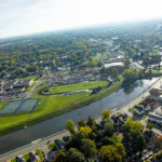 aerial photo of Muncie