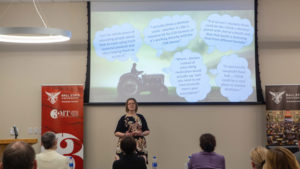 Lindsay Schultz makes a presentation