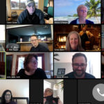Social Work faculty meet remotely