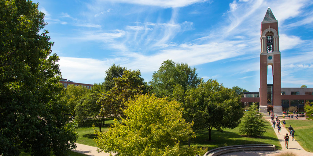Campus on a beautiful day