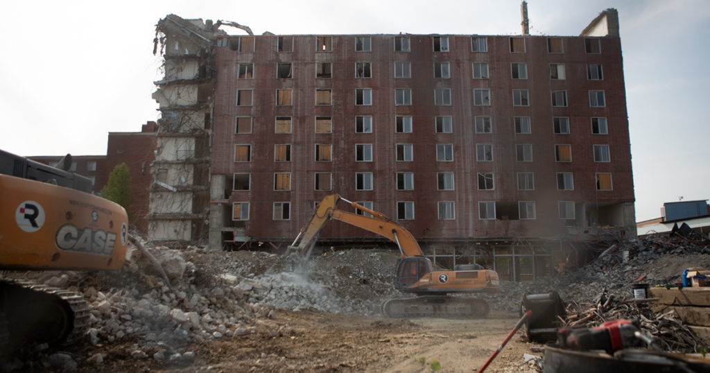 LaFollette demolition in November 2020