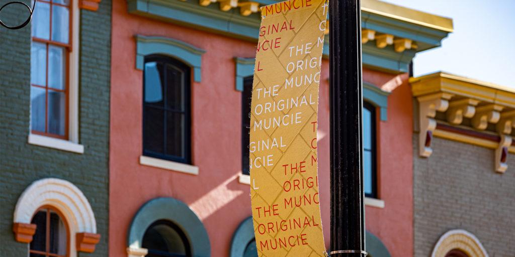 Pole banner in Muncie