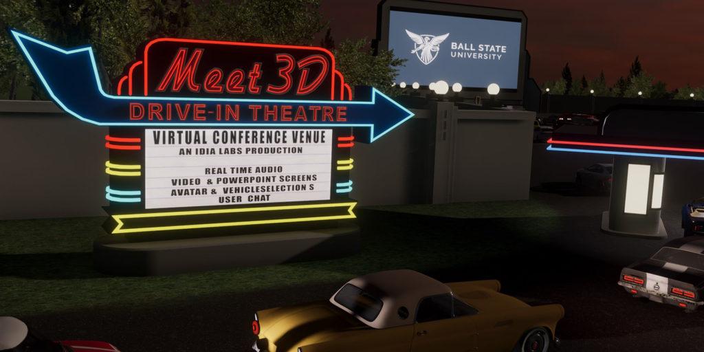 Meeting 3D screen
