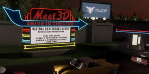 Meeting 3D screen