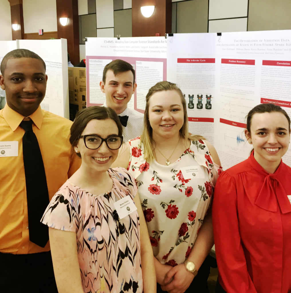 Math Students at the Student Sympoisum