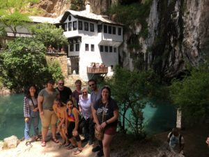 Students enjoying the sites in Blagai.
