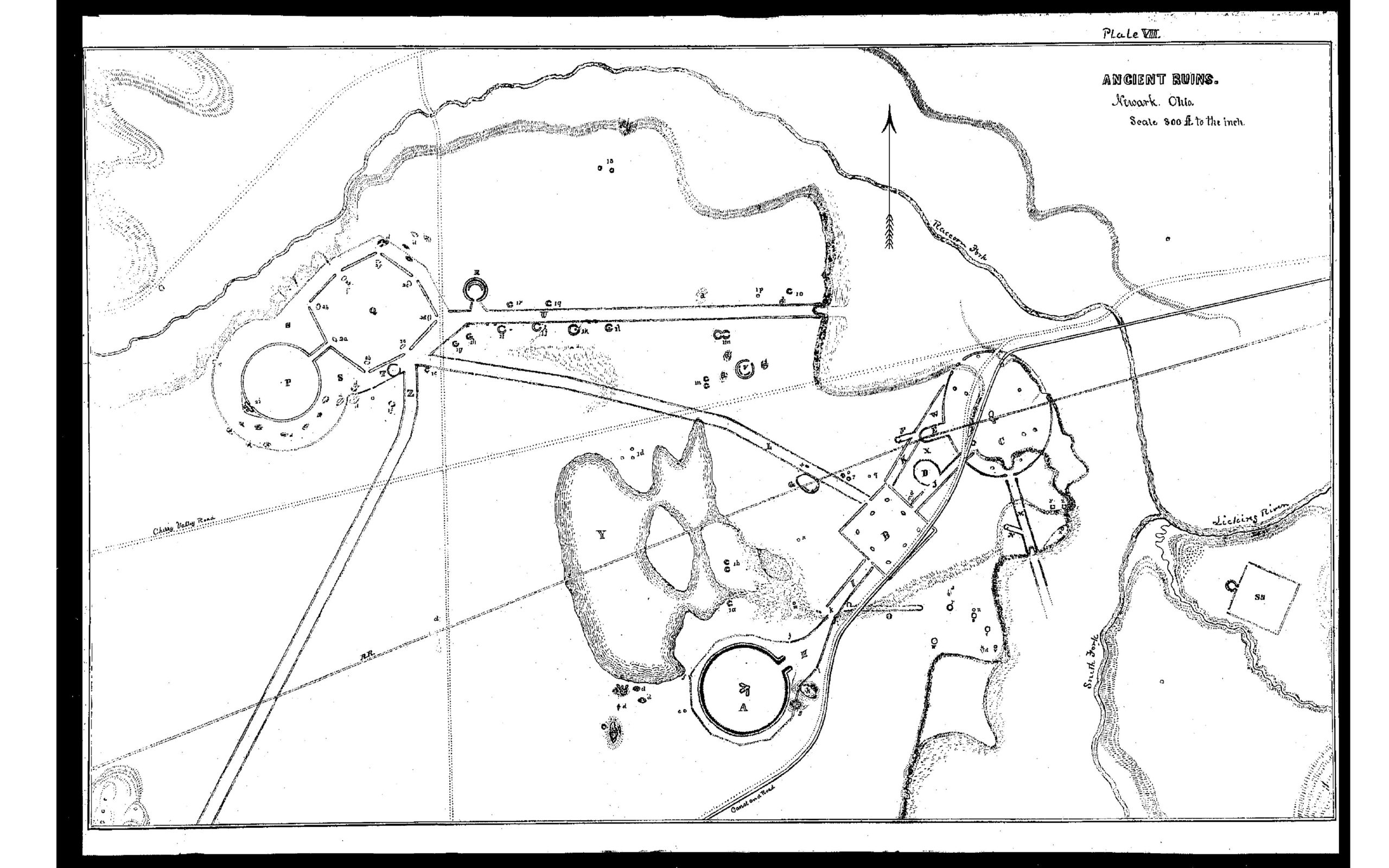 Map of Newark Earthworks