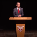 An image of Ball State University's President Geoffrey Mearns