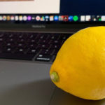 Lemon on laptop