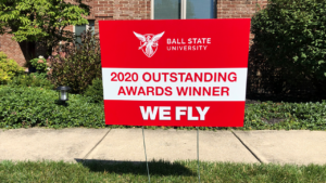 2020 Outstanding Faculty Yard Sign