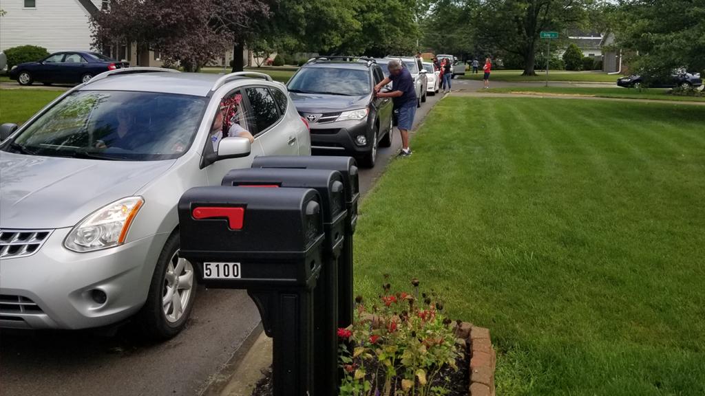 Car parade preparation