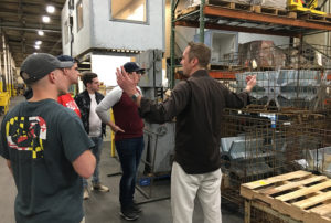Factory and operations discussion with John Smith, President of the Industrial Division, Midwest Metal Products, Muncie, IN.