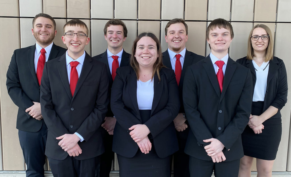 Photo of students competing in MCAA competition.