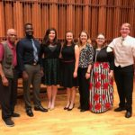 George Shirley and Rory Wallace pose with other members of the BSU Opera Theatre.