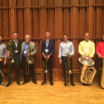 Posed photo from the Low Brass workshop